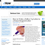 letter donor request follow up