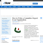 report committee to association