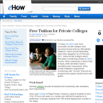 education free tuition private colleges