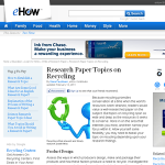 recycling research paper topics