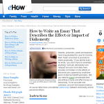 essay dishonesty effect or impact